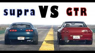 JESTER CLASSIC VS ELEGY RETRO IN GTA 5 ONLINE GTR VS SUPRA
