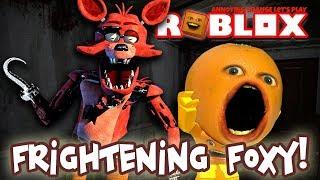 Roblox: Nightmare Fighters #2: FRIGHTENING FOXY! 🐺 🍊 👻 [Annoying Orange Plays]