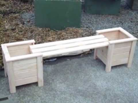 Planter Boxes With Bench YouTube