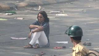 Sonakshi Sinha protests on the streets of Mumbai