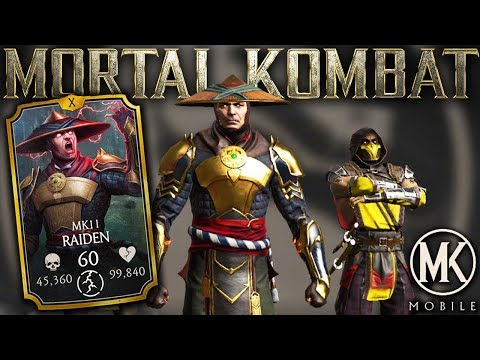 MK11 Raiden Is INCREDIBLY Fast! Best Gold Card In MK Mobile 2.0 Update?