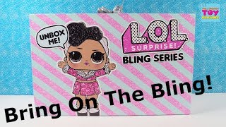 LOL Surprise Bling Series Holiday Ornament Ball Doll Unboxing Toy Review | PSToyReviews