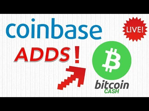 COINBASE ADDS BITCOIN CASH! - LIVE STEAM - PRICES AND CHARTS!
