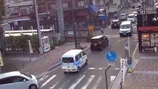 広島 緑井駅 列車発車 バス フジグラン 2014.9.29.(1) Hiroshima Midorii Station