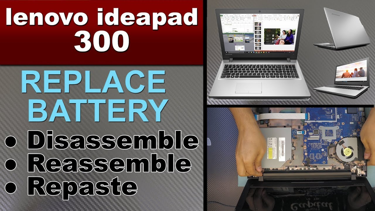 lenovo ideapad 300 battery replacement , removal