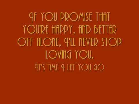 Letting Go - Sing it Loud w/ lyrics