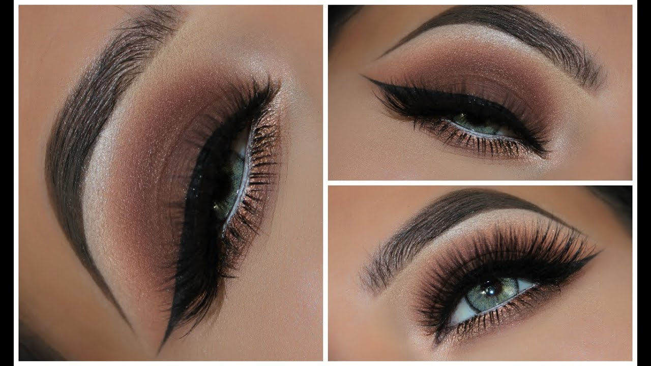a simple brown smokey eyeshadow look | amys makeup box