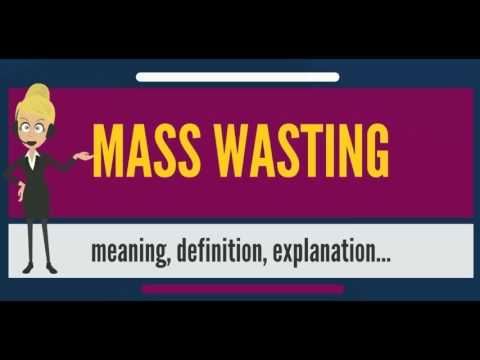 What is MASS WASTING? What does MASS WASTING mean? MASS WASTING meaning, definition & explanation