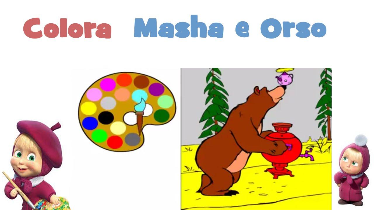 Masha E Orso Italiano Orso Da Colorare Giochi Per Bambini Youtube