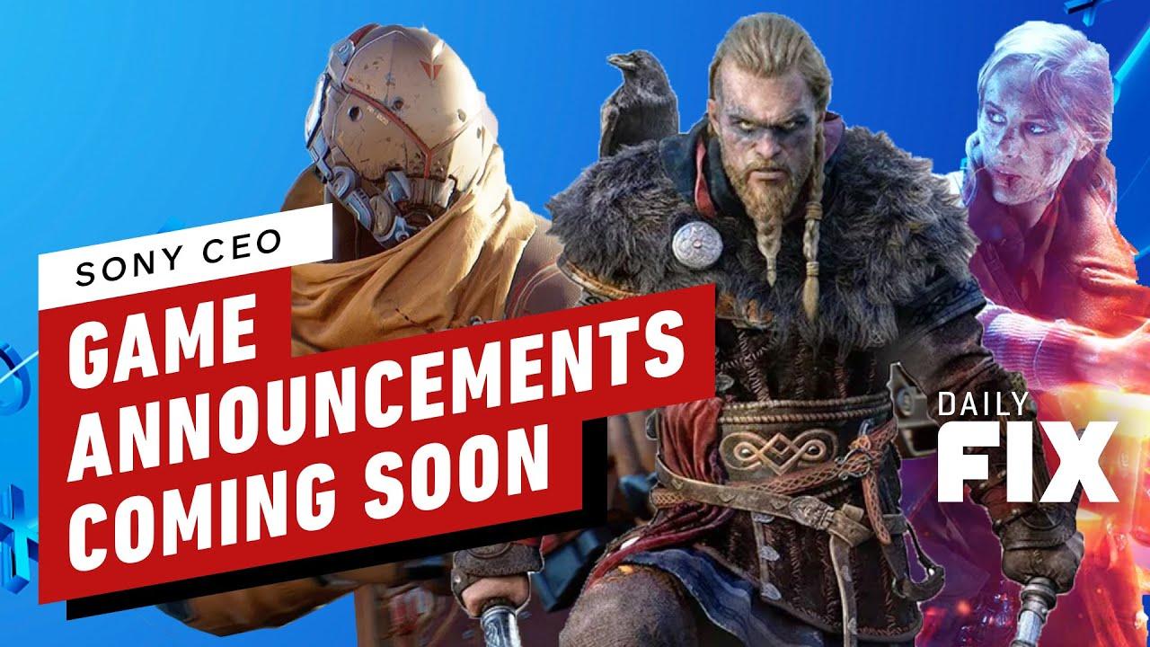 El CEO de Sony dice que los anuncios de los juegos de PS5 estarán disponibles próximamente + vídeo