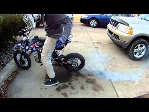 SSR 125cc Pit Bike BURNOUT!