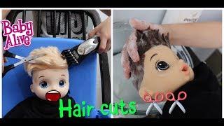 BABY ALIVE BOYS GO TO THE HAIR SALON