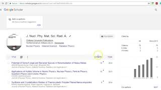 How to Configure Google Scholar Profile for Citation