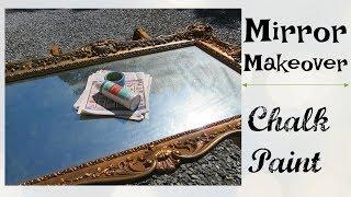 Mirror Makeover | Spray Chalk Paint