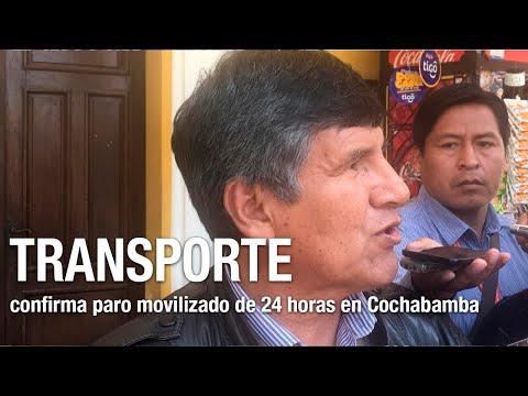 Transporte libre y federado confirman paro movilizado de 24 horas en Cochabamba