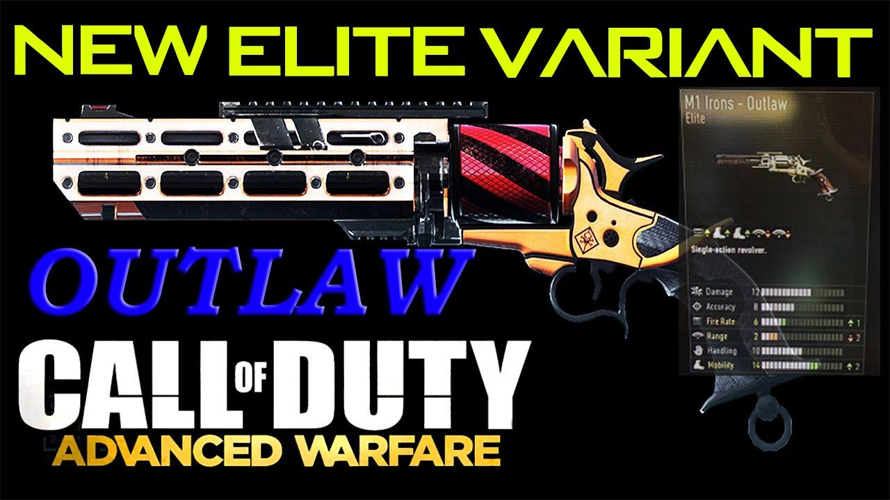 "COD Advanced Warfare - ELITE ""M1- OUTLAW"" NEW DLC GUN! M1 ..."