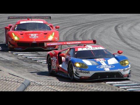Ford GT LM vs Ferrari 488 GTE - Laguna Seca Monterey