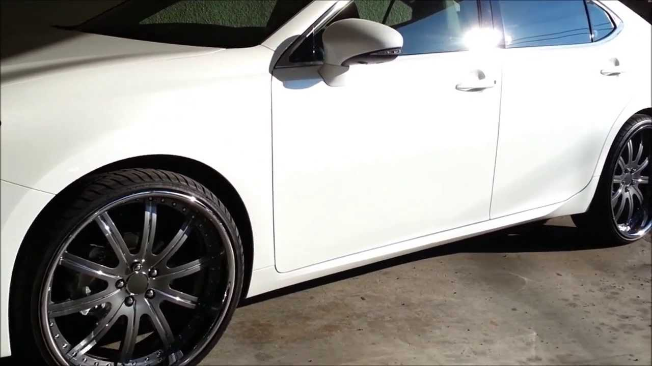 2013 Lexus Es350 Staggered 22s Youtube