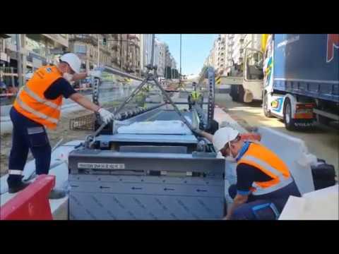 Instalan las rampas mecánicas de Gran Vía