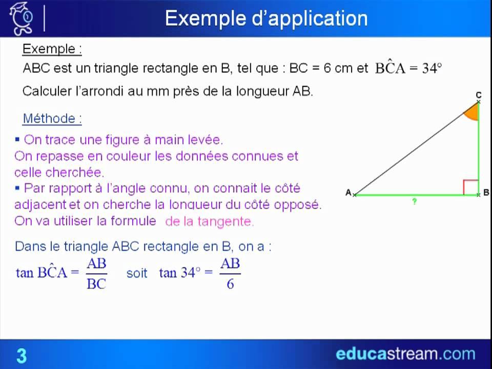 application des formules trigonométriques cours maths 3ème ...