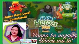 FARM HEROES SAGA ANDRIOD GAME PLAY VERY HARD LEVEL COMPLETED PAANO KO NAGAWA?🔸Jasmine Duque screenshot 1