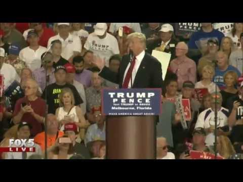 Donald Trump speaks in Florida a day after debate