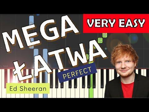 🎹 Perfect (Ed Sheeran) - Piano Tutorial (MEGA ŁATWA wersja) (VERY EASY) 🎹
