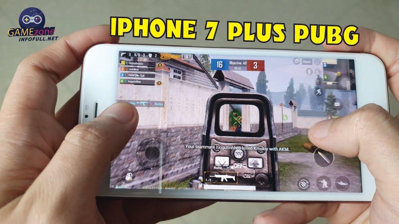 iphone 7 plus test game pubg mobile