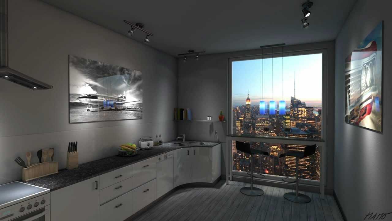 Cinema 21D Visualisierung, NYC Küche, Interior, Innenarchitektur