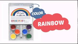 Snazaroo Make Your Own Rainbow Face Paint Cake (12 Ml) - Clownantics.com