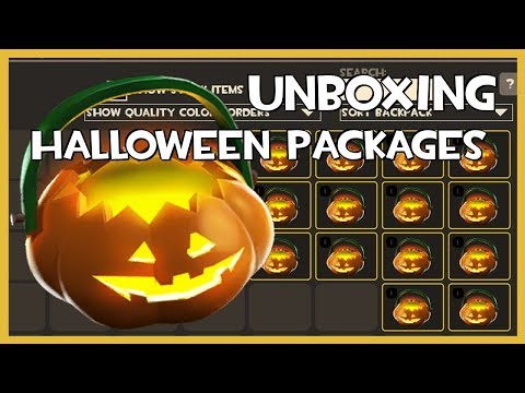 TF2 - Unboxing 17 Halloween Packages (2017)