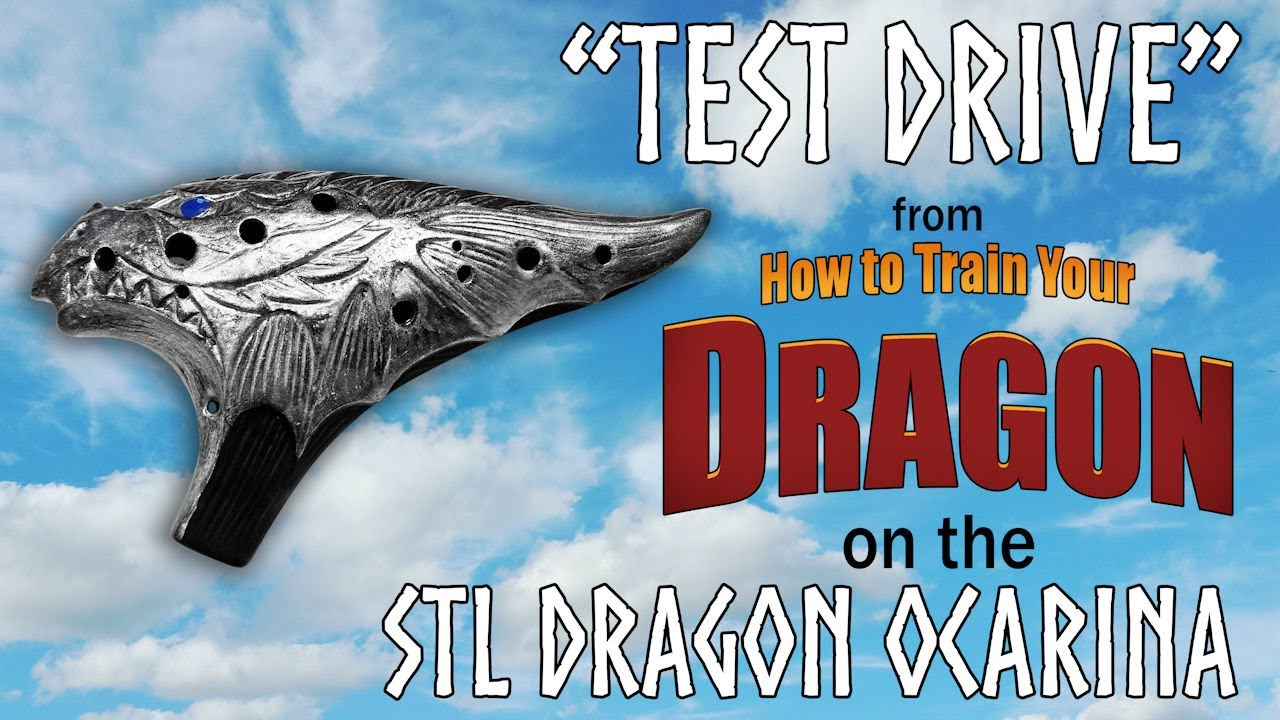 Test Drive Theme from How to Train Your Dragon on STL Dragon Ocarina