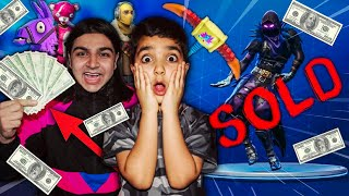 I SOLD MY 5 YEAR OLD LITTLE BROTHERS FORTNITE ACCOUNT | FORTNITE ACCOUNT FOR SALE [MUST WATCH!]