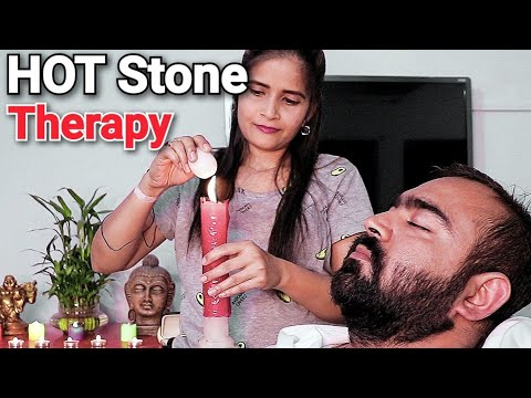 Hot Stone Head Massage Therapy by Cosmic lady barber - ASMR Barber
