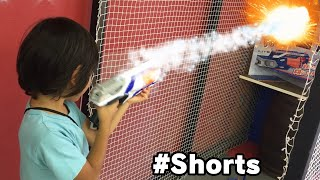 NERF with Fire!? ナーフから火!? #Shorts