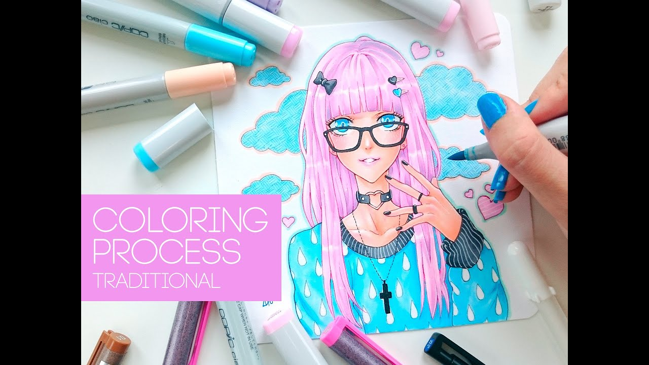 ☆ [DAPHNE] ~ Copic Coloring - YouTube