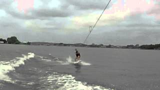 Mrs H first wakeboard