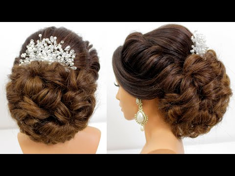easy-bridal-hairstyle-for-long-hair-||-wedding-prom-updo-||-messy-bun