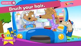Lección 10_(B)su Cepillo de dientes y el cabello. - De dibujos animados de la Historia de la Educación en inglés - conversación para los niños