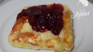 Blätterteigtaschen mit Puddingfüllung/Puddingli milföy pastasi/meinerezepte