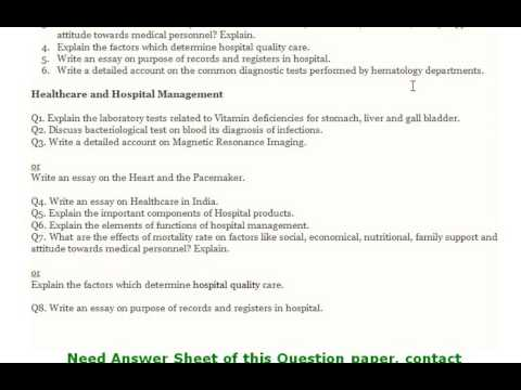 Healthcare And Hospital Management  Explain The Important  Healthcare And Hospital Management  Explain The Important Components Of  Hospital Products