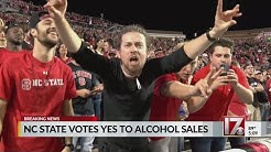 NC State Board of Trustees votes to allow alcohol sales at athletic venues