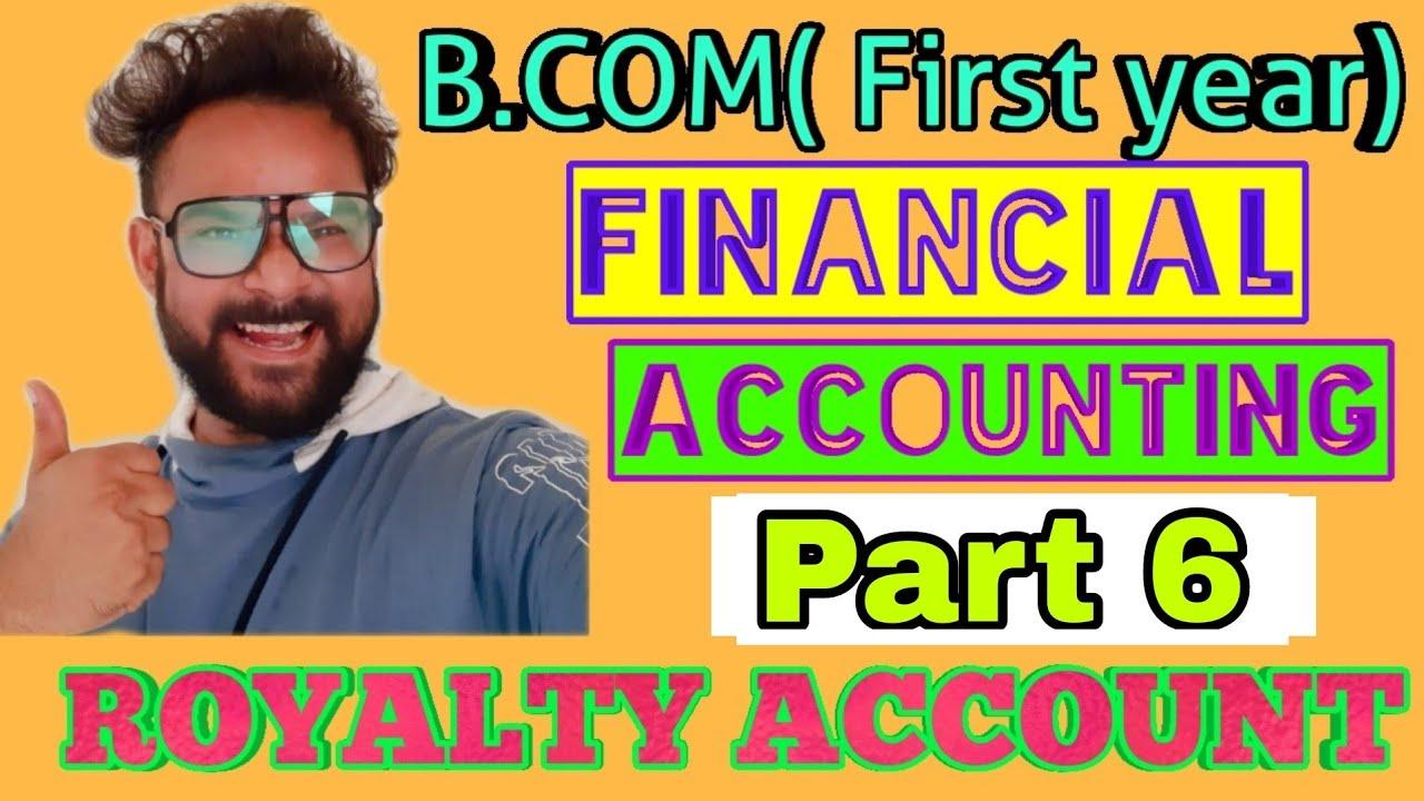 Download Royalty Accounts   Financial accounting   B.com   Jawahar publication Solutions   Part 6   Royalty  