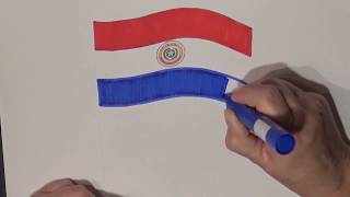 Learn geography for kids How to draw a flag Paraguay