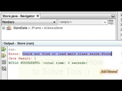 [Solved] NetBeans Could not find or load main class