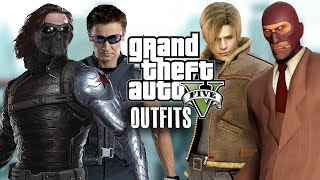 GTA 5 Online - Outfits (Winter Soldier, Hawkeye, Team Fortress & Leon)