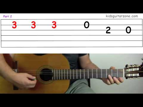 Kids Guitar Zone - Learn to play the guitar for Free  - Lesson 4