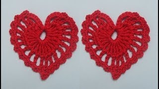 How to Crochet a Heart Pattern #1 by ThePatterfamily