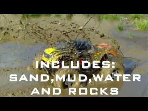 RC TRAIL E SAVAGE SANDPIT, MUD, WATER,ROCKS & SAND BASH