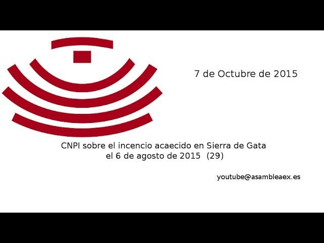 CNPI sobre el incencio acaecido en Sierra de Gata el 6 de agosto de 2015 (29), 7 de octubre de 2015